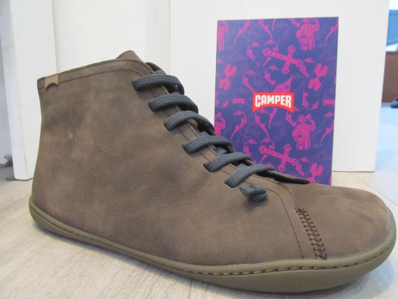 5e9d6c59 Camper Peu Cami 36458-032 Brown Leather Zip Elastic Trim Mens Ankle ...