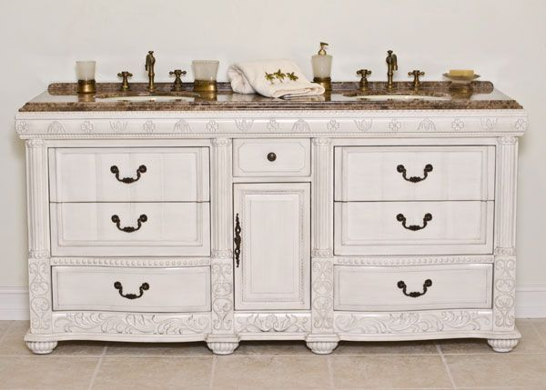 BI Inches Phoenix Double Sink Bathroom Vanity White Finish - Bathroom vanities phoenix