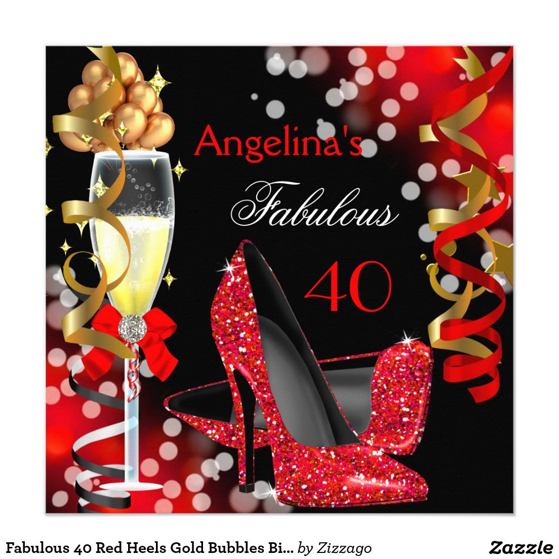 Fabelhaftes 40 rotes karte | Bubble birthday parties, Bubble ...