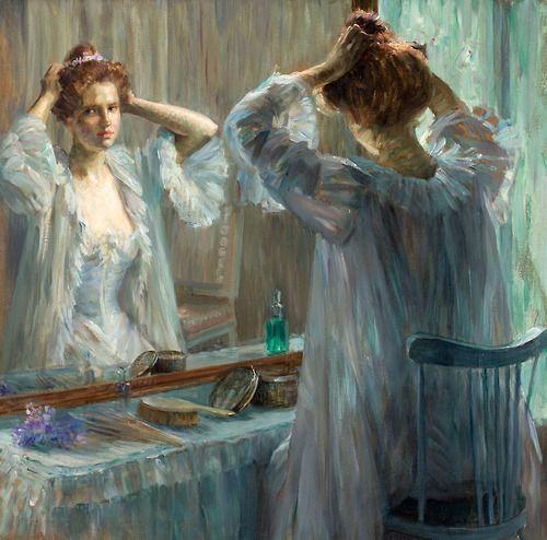 La Toilette, 1898, vintage, artwork, Louise Catherine Breslau.
