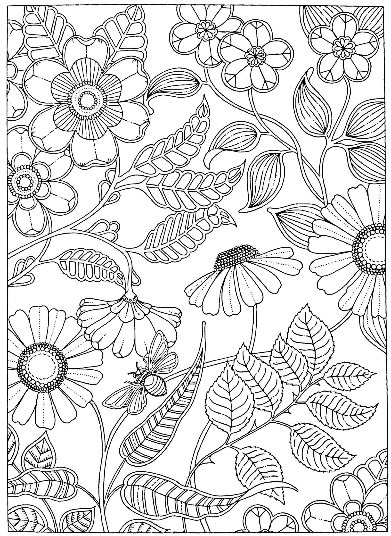Free adult coloring page Secret Garden (With images ...