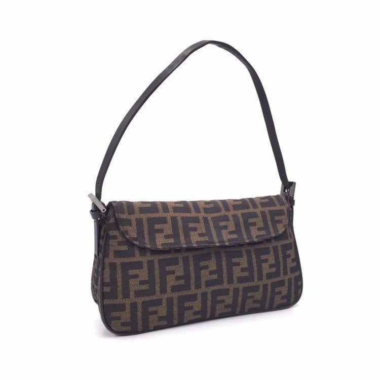 Authentic Fendi Vintage Zucca Baguette Bag In 2020 Leather Crossbody Bag Bags Fendi