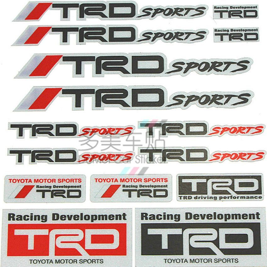New Car Styling TRD Auto Body Sports Sticker Decal for