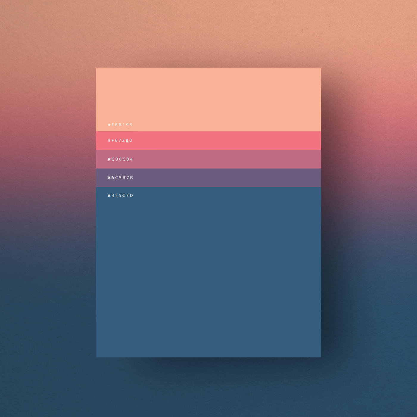 Minimalist Color Palette Posters Collection When You Think Of