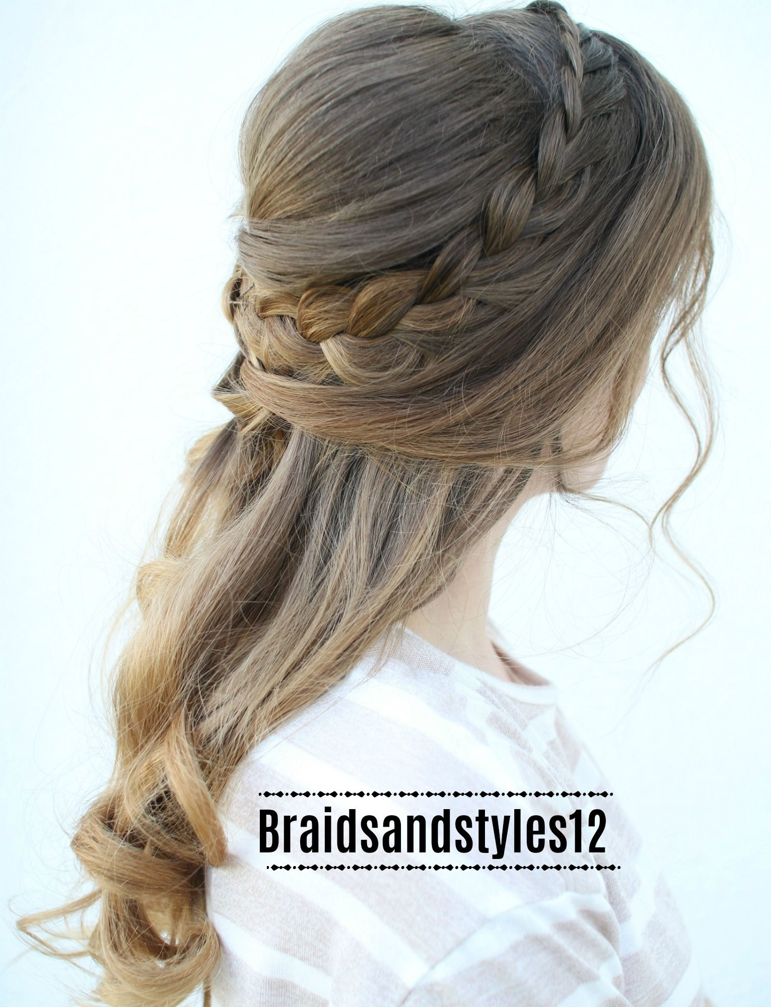 Romantic half up braided hairstyles by braidsandstyles half up