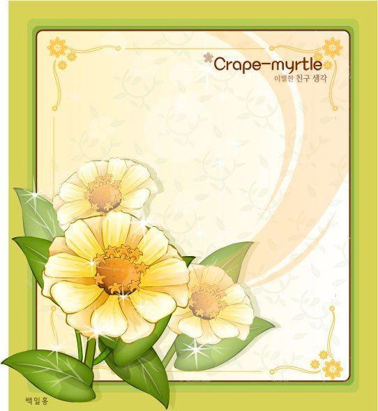 CRAPEMYRTLE FLOWER FRAME VECTOR | cgspring | Pinterest | Flower ...
