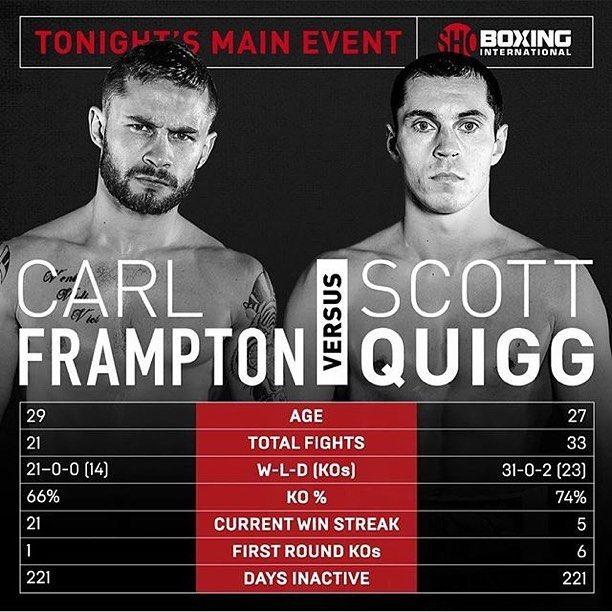 Carl Frampton Battles Scott Quigg Tonight On Showtime Who Will Win Boxing Shobox Carl Frampton Who Will Win Showtime