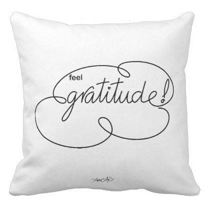 Feel GRATITUDE Bold CloudS Throw Pillow Gratitude - Bold diy circus animal cookie pillows