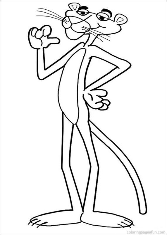 Pink Panther Coloring Pages 10 In This Page You Can Find Free