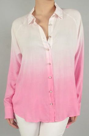 The Ombre Blouse in Cotton Candy