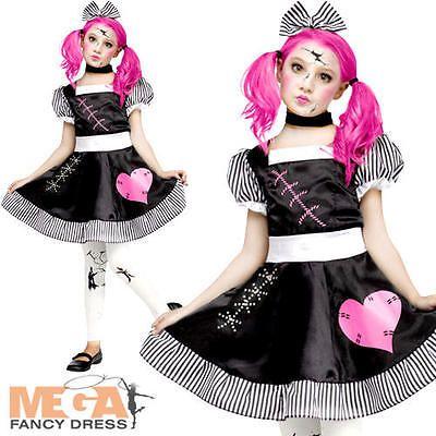Childrens Girls Kids Fancy Dress Halloween Costume NEW Broken Doll