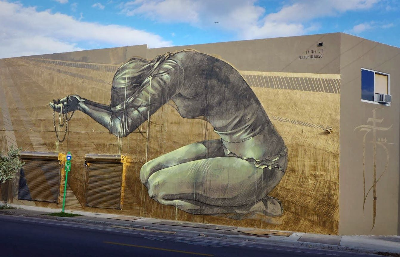 Street art in Wynwood, Miami (-Women On The Walls- project) USA by Faith47 #faith47 #miami #streetart