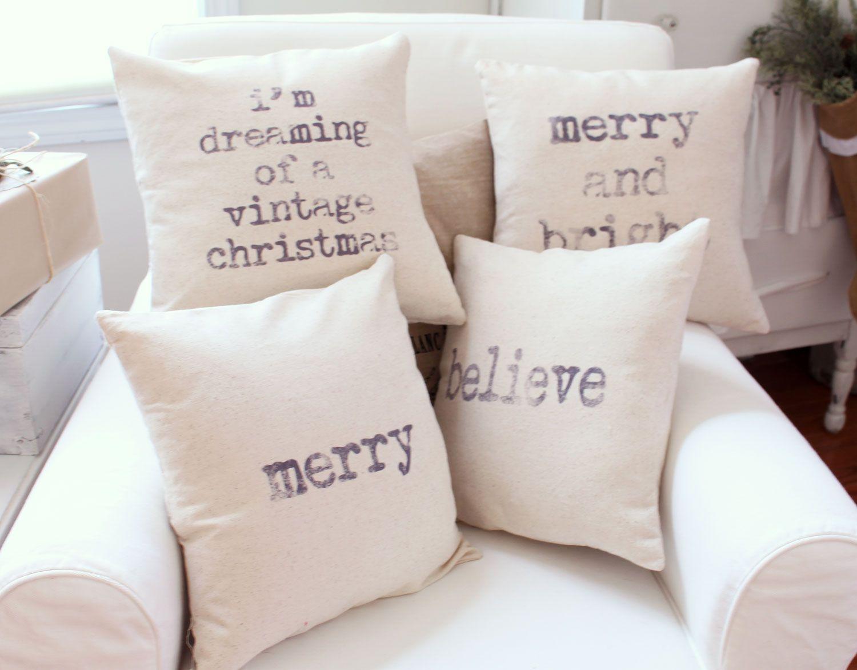 shabby story: a white christmas...diy pillows | SHaBby StOrY's ...