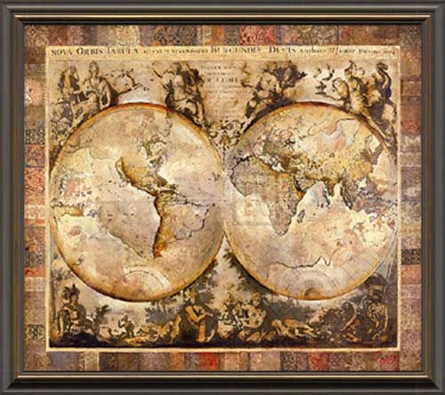 Old world map home sweet home pinterest map globe globe and old world map sciox Gallery