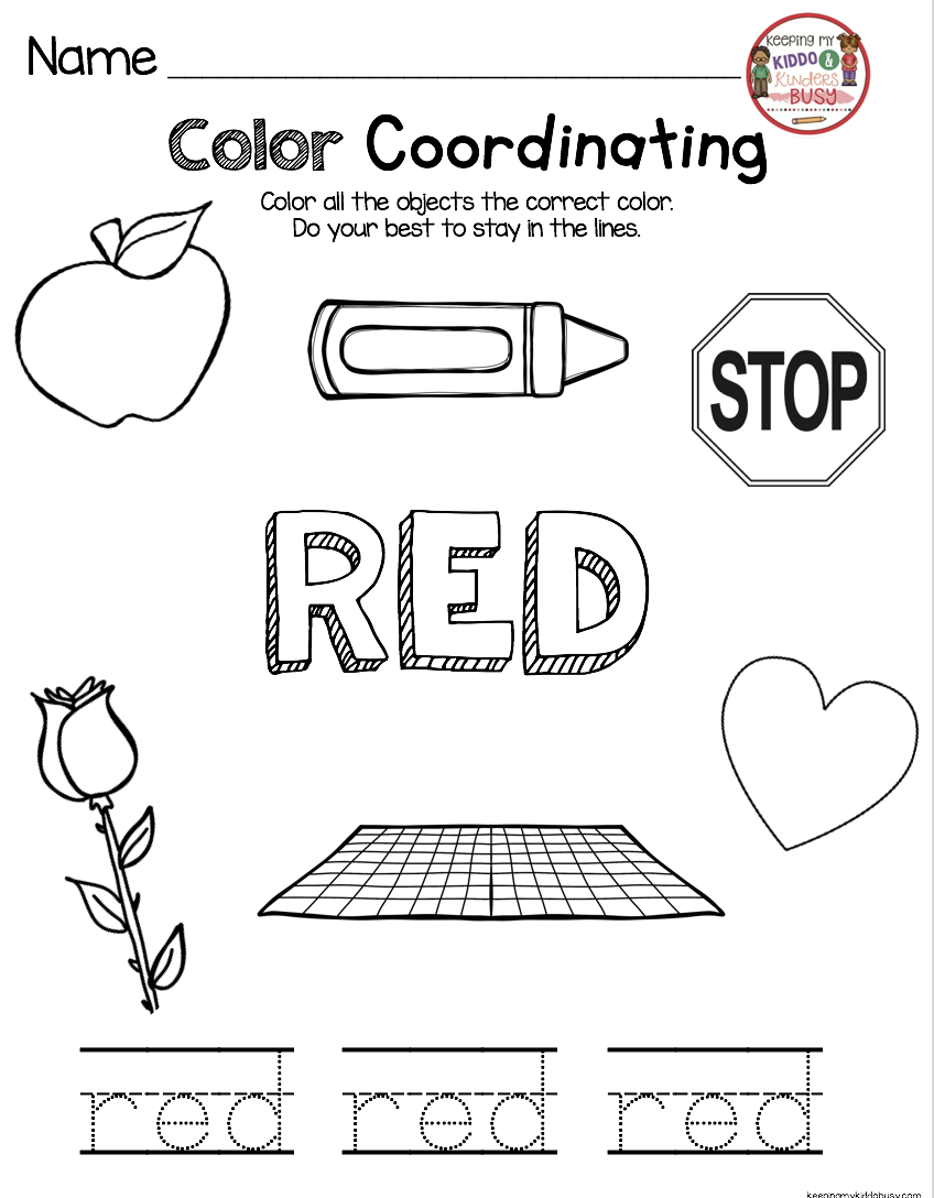 Kindergarten in August  FREEBIES is part of Kindergarten learning, Teaching colors preschool, Color words kindergarten, Color activities kindergarten, Color worksheets for preschool, Learning colors preschool - Happy Back to School! Many of us start back in August (or even July!) but where I grew up in Oregon, we always started in September