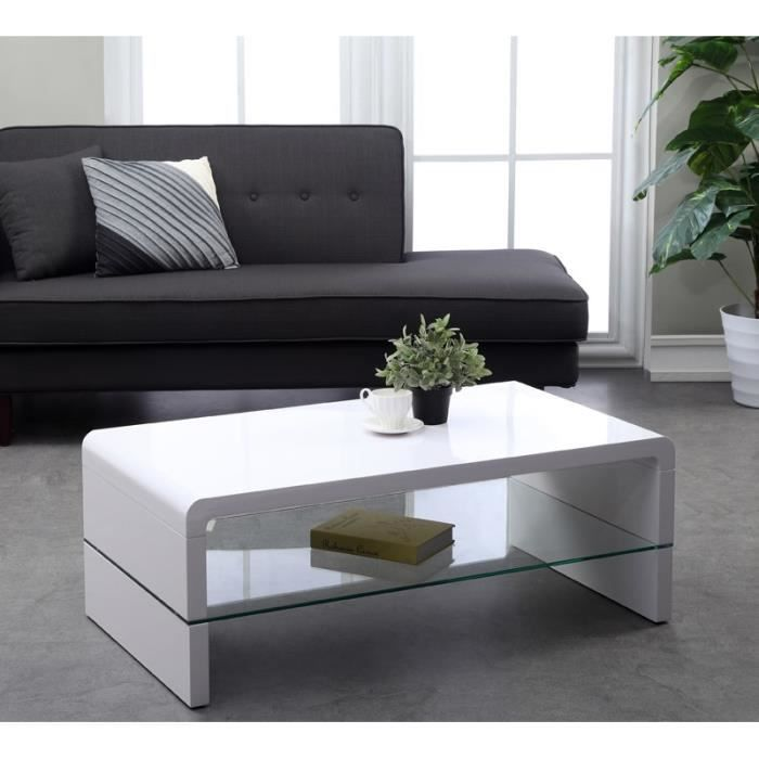 Primi Table Basse Laque Blanc 110 Cm Table Basse Table Basse Contemporaine Decoration Maison
