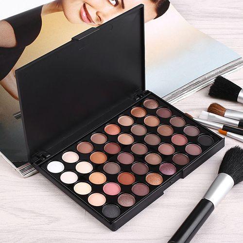 Long Lasting Sombra de Ojos 40 Colores de Sombra de Ojos Paleta de Maquillaje Conjunto de Herramientas Cosmética