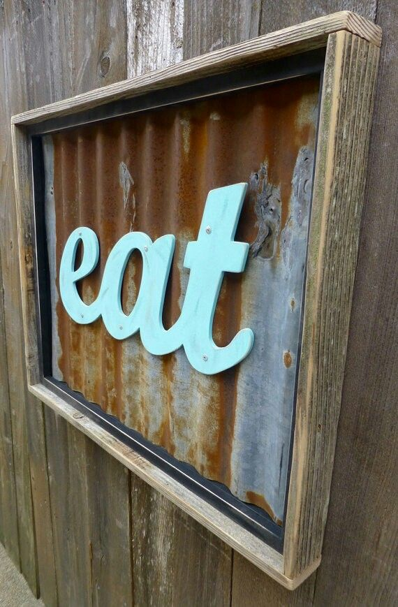 corrugated metal and turquoise sign #LGLimitlessDesign #Contest