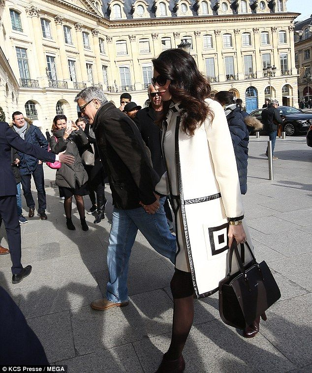 Amal Clooney with her Paris Premier bag by Longchamp  0ce7ffcf48d53