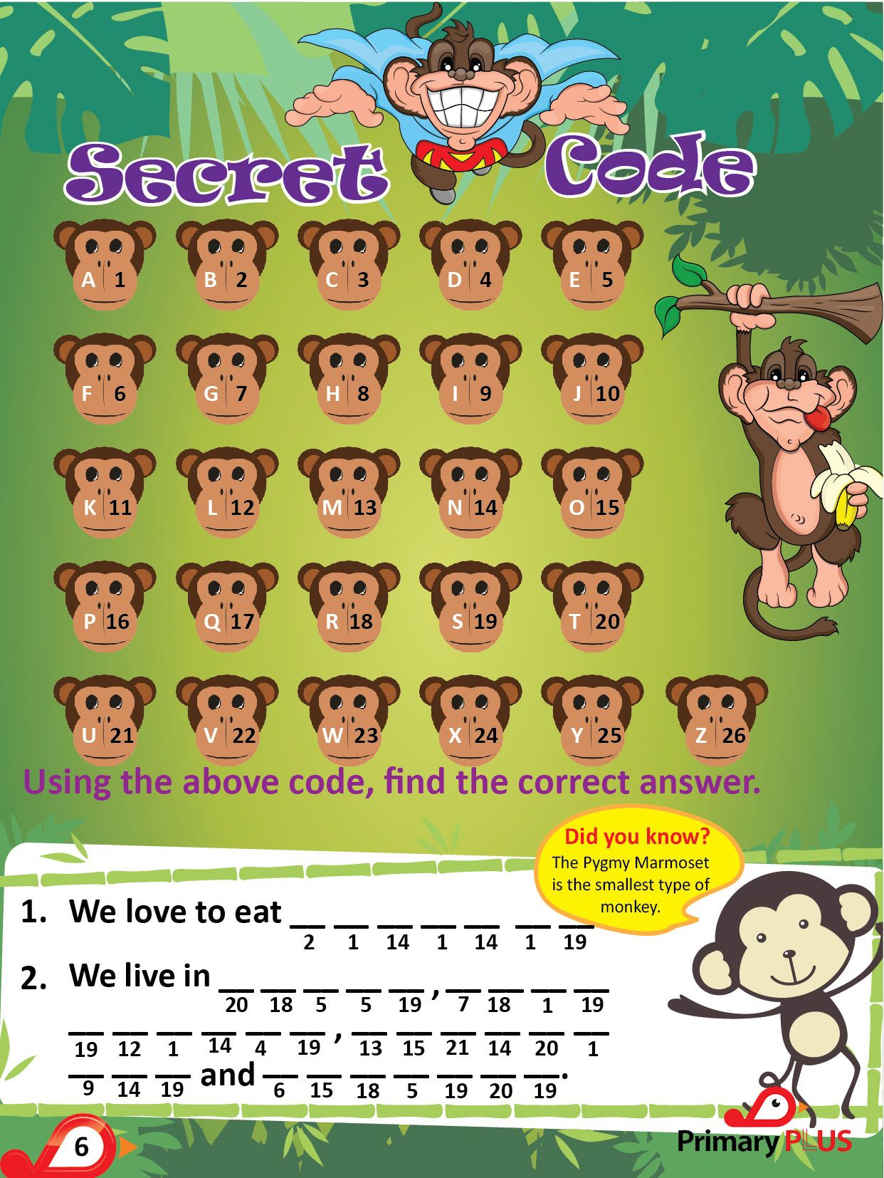 Secret Code Find The Correct Answer Kids Events