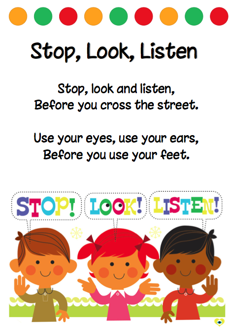Stop Look Listen Kindergartens World Wiersze