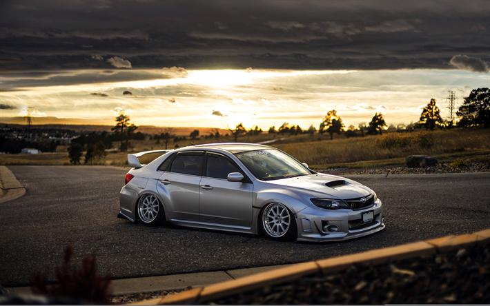 Download Wallpapers 4k Subaru Impreza Wrx Sti Stance Japanese