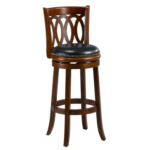 Mintra Cherry Finish Spiral Back 29 Inch Swivel Barstool By 124 22 Dimension 38 High 18 Wide Deep Seat Height