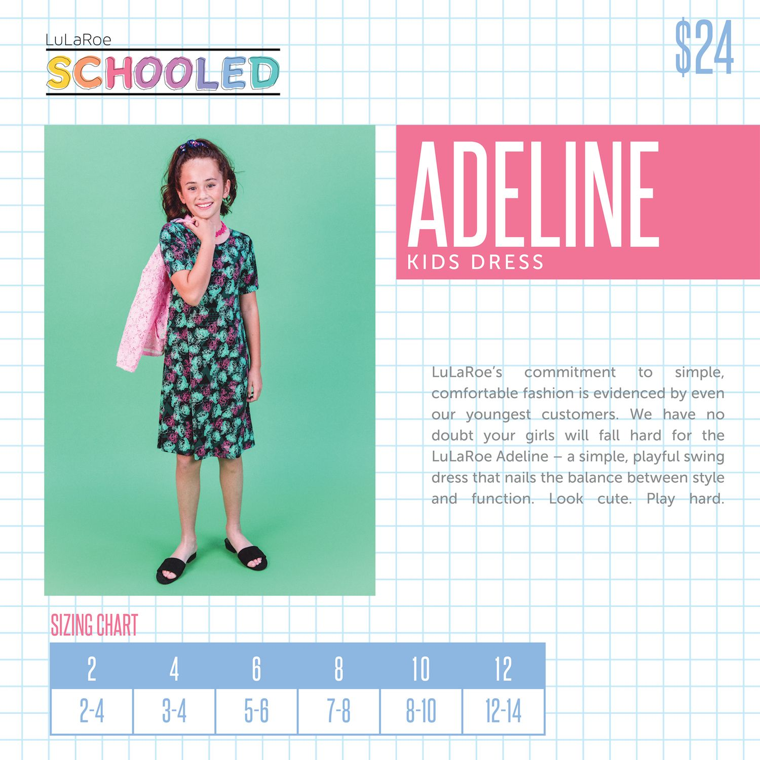 Lularoe New Pricing For Kid S Items Adeline Dress Schooled Back To School