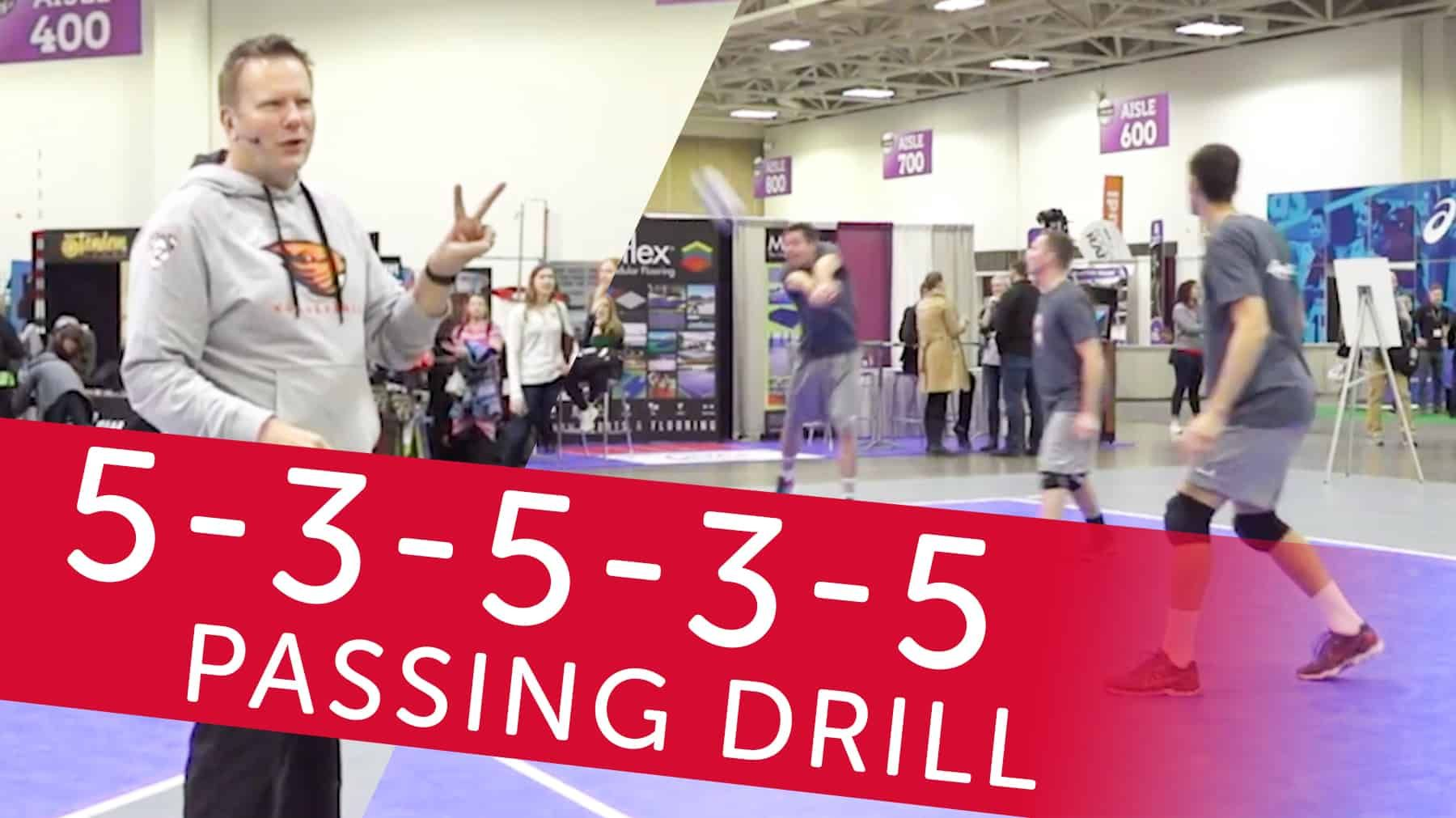 5 3 5 3 5 Passing Drill Coaching Volleyball Passing Drills Volleyball Drills