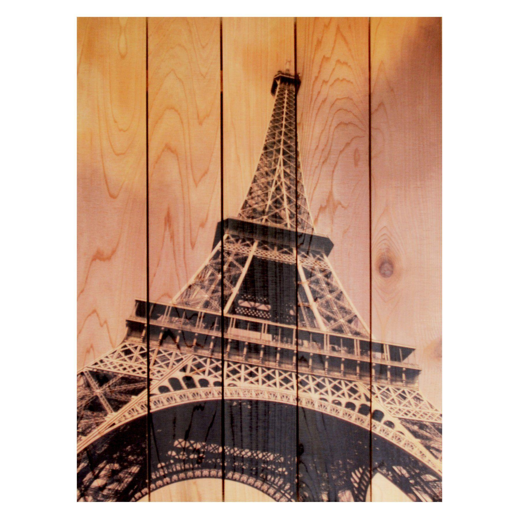 Gizaun art eiffel tower insideoutside full color cedar wall art
