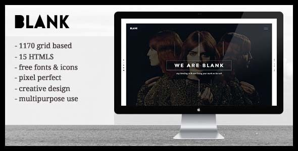blank creative agency portfolio templates html5 blank is a