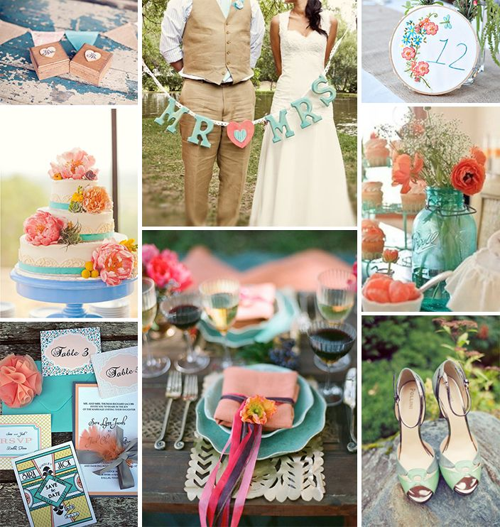 Coral Wedding Reception Ideas: Coral And Turquoise Wedding Inspiration