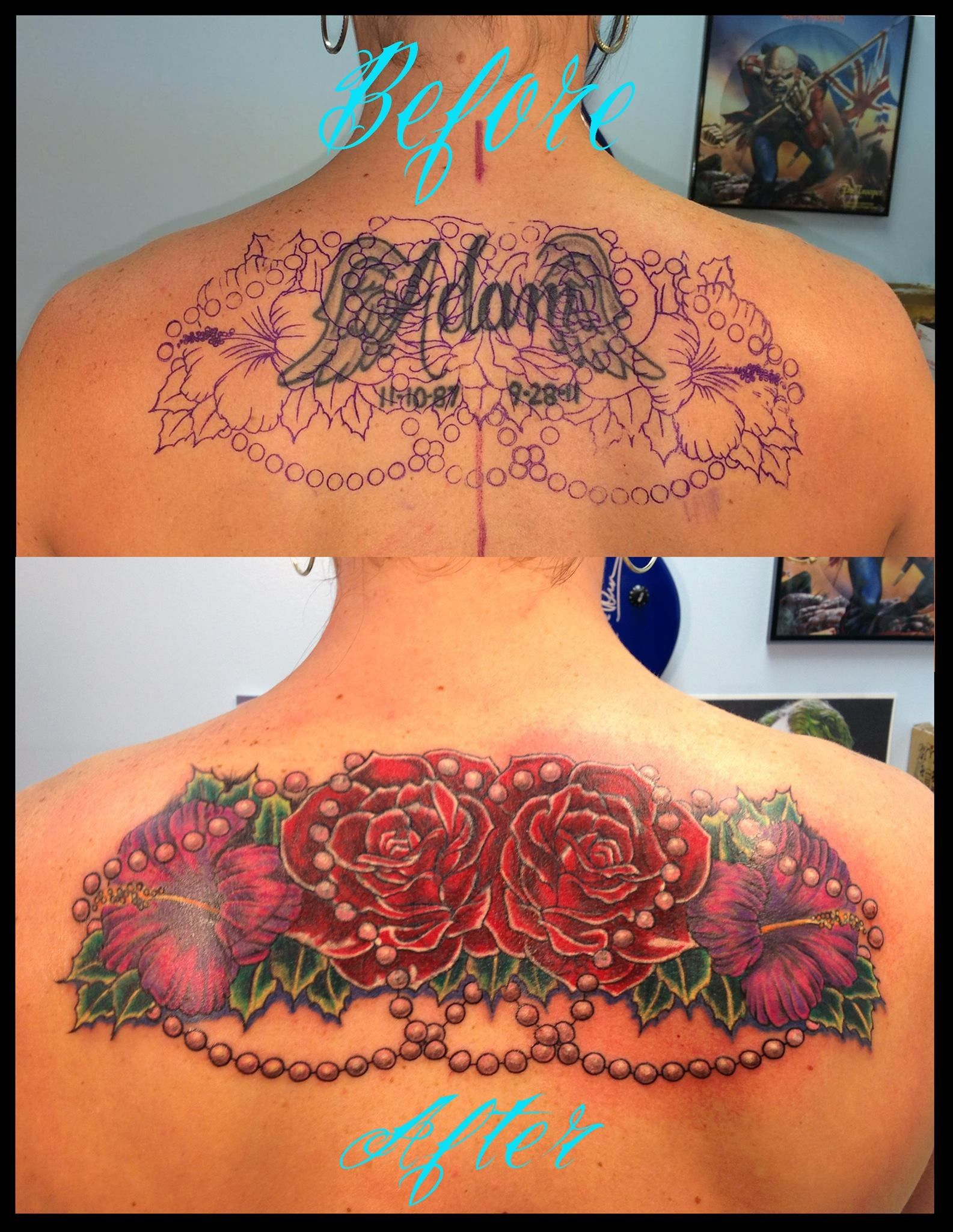 Grat Cover Up Tattoo By Blue Fin Tattoos Cover Up Tattoos Cover Tattoo Tattoos