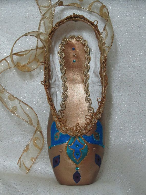 Decorated pointe shoe Nutcracker Arabian by DesignsEnPointe, $40.00 OH MY GOSH @Kathryn Whiteside Gingrich