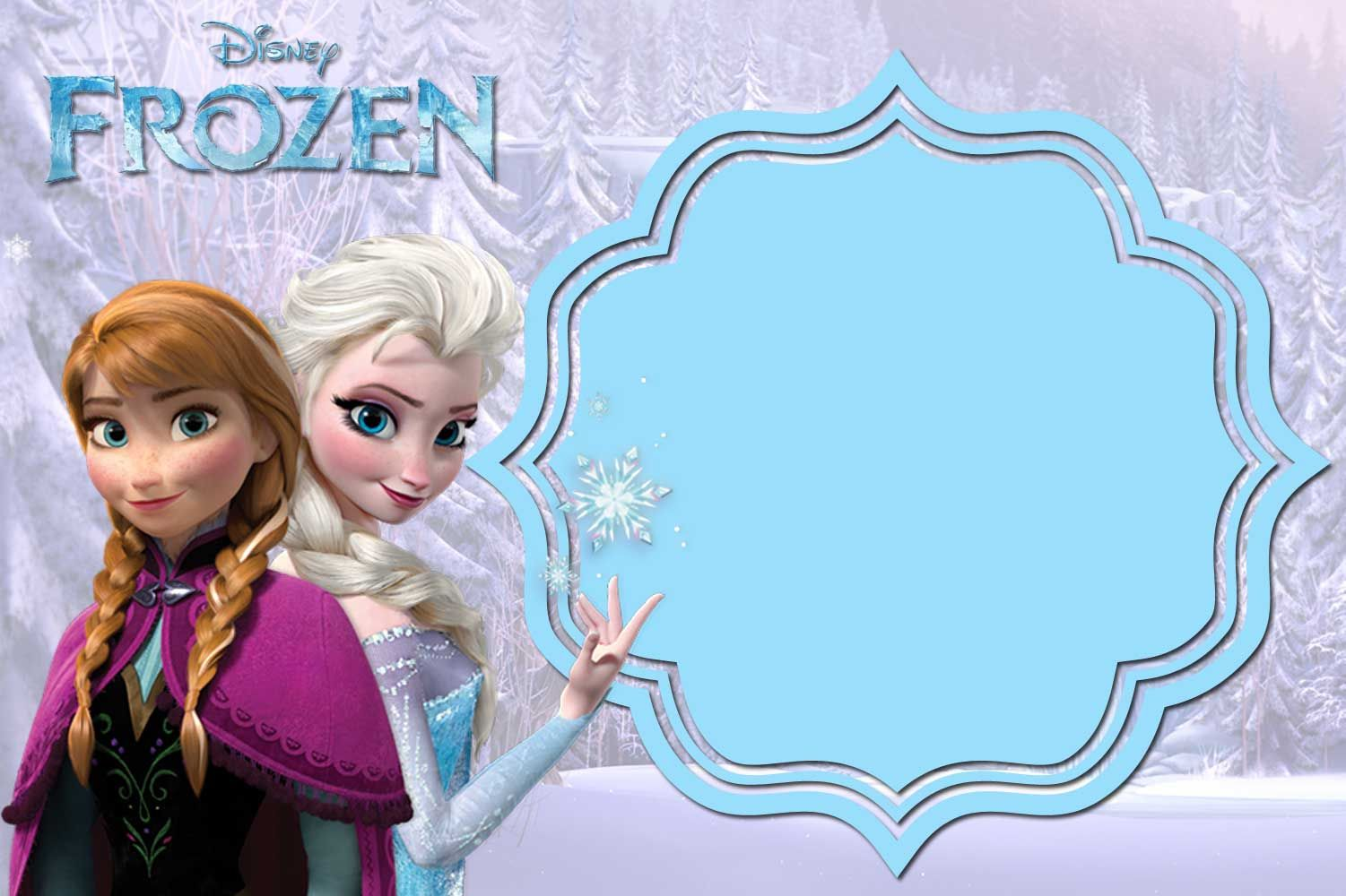 photograph about Free Printable Frozen Invites named Pin upon Totally free Printable Birthday Invitation