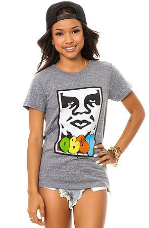 The Obey x Cope 2 Takeover Tee in Heather Gray by Obey use rep code: OLIVE for 20% off!