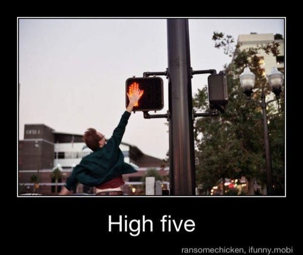 If Only I Could Jump High Enough To Do This Funny Pictures The Funny High Five