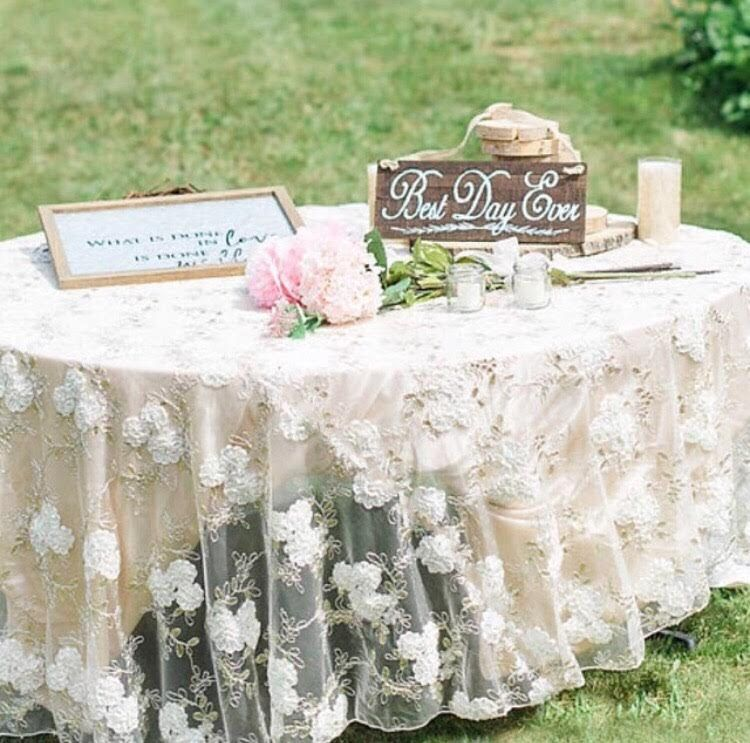 Lace Table Overlay Table Overlay Wedding Tableclothtable Etsy Wedding Tablecloths Table Overlays Lace Table