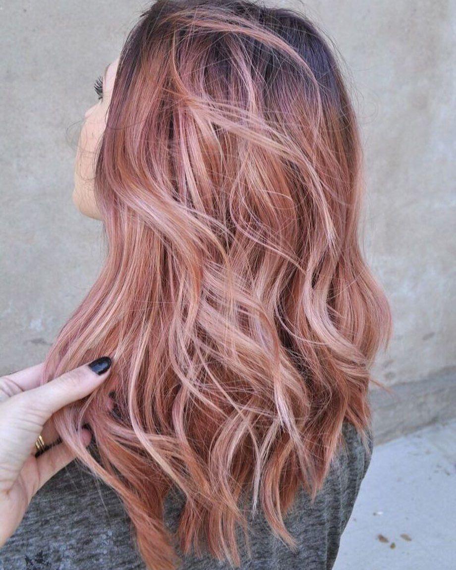 Rose Gold Inspiration Springhair Haircolorist Loveit Rose Gold Inspiration Di 2020 Rambut Panjang Rambut Ide Warna Rambut
