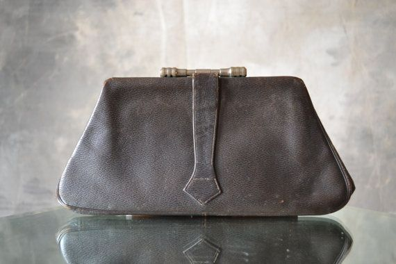 1920s Art Deco Dark Brown Clutch Bag HOLD SHARI | 1920s, Art and ...