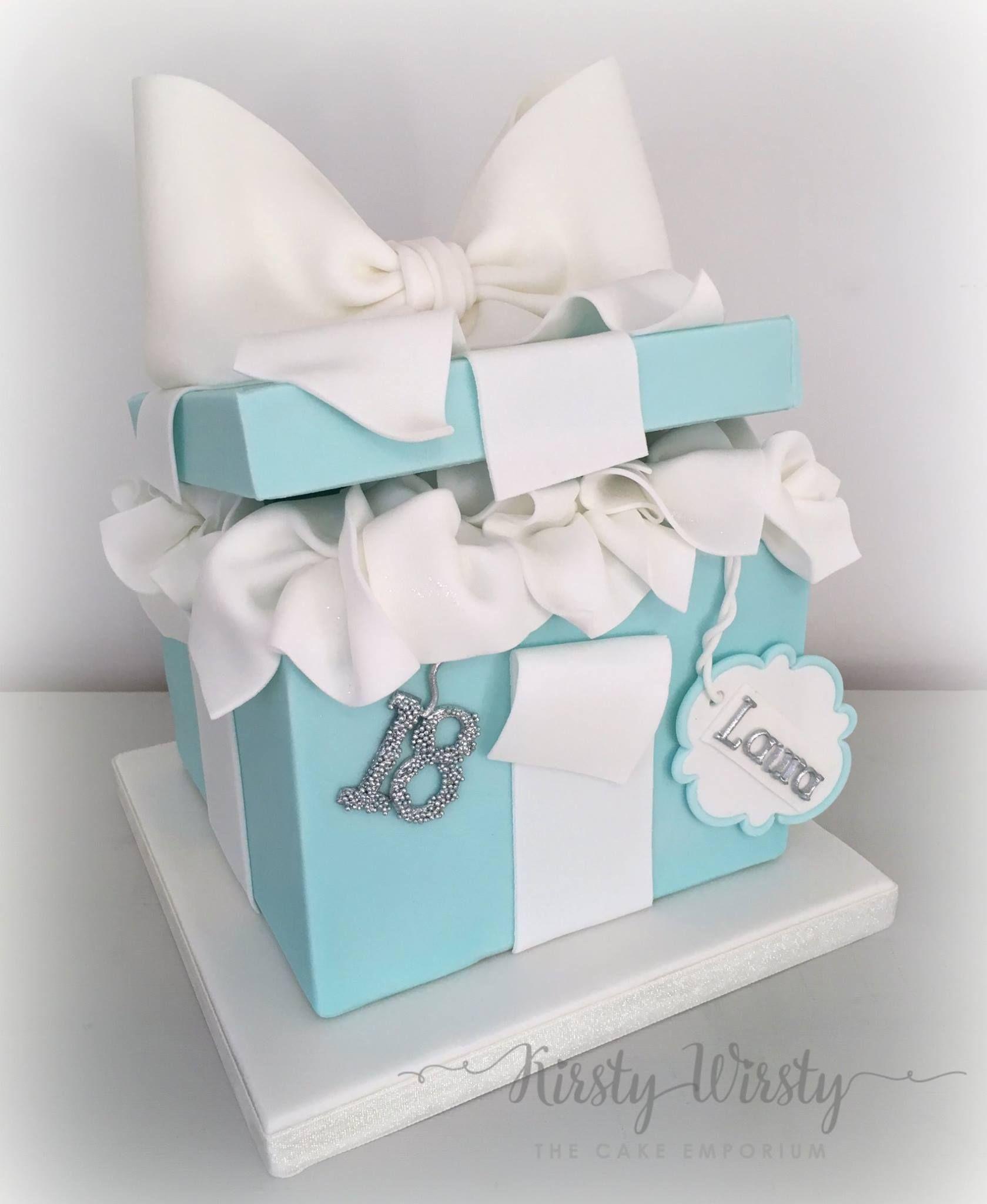 tiffany box cake   Crafty Cakes   Pinterest   Tiffany box, Boxed ...