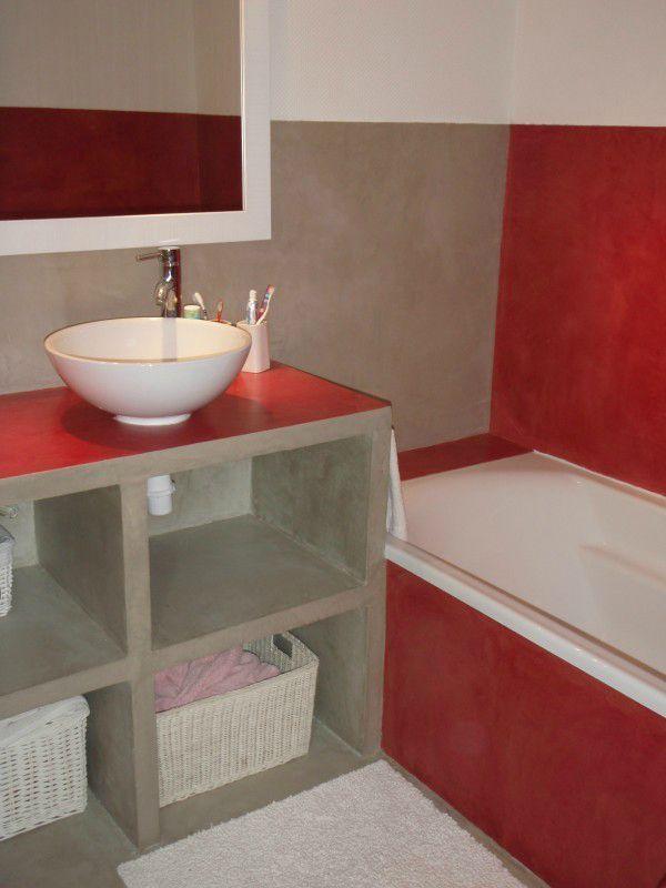 Mon chez moi - Création d\u0027un meuble de salle de bains - Avant - Salle De Bain En Siporex