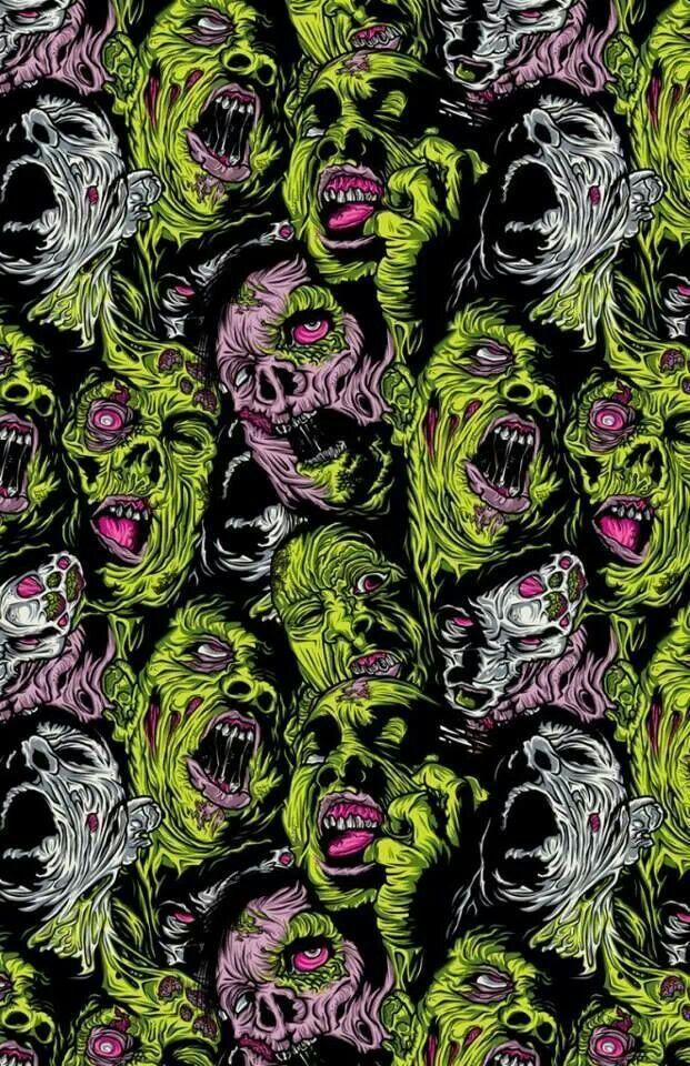 Wall Of Death M Scary Wallpaper Zombie Wallpaper Horror Art