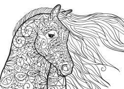 pferde mandala als pdf zum kostenlosen herunterladen | malvorlagen tiere, malvorlagen pferde
