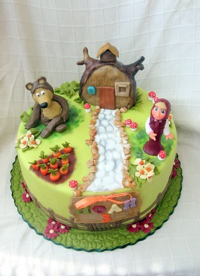 Masha and The Bear Cake Birthday Cake ideas nicecakebirthday