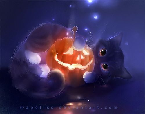Kawaii Petit Chat Noir 2 Happy Halloween Kawaii Ichigo Photos Illustration De Chat Dessins Mignons Dessin Kawaii Animaux
