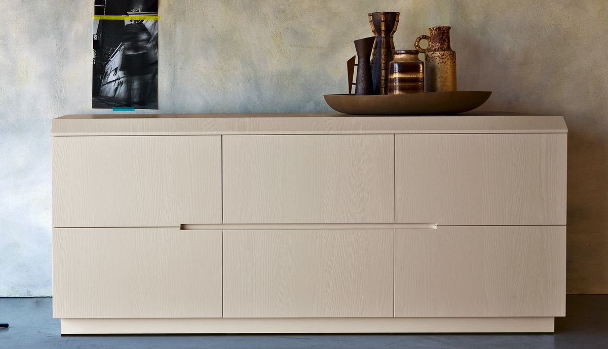 Zanette Morfeo Italian Wide Chest Of Drawers 6 Drawer Robinsons Beds
