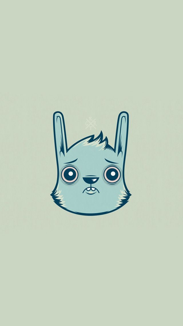 Rabbit. Simple Cute Wallpapers. Re-pin for later ...
