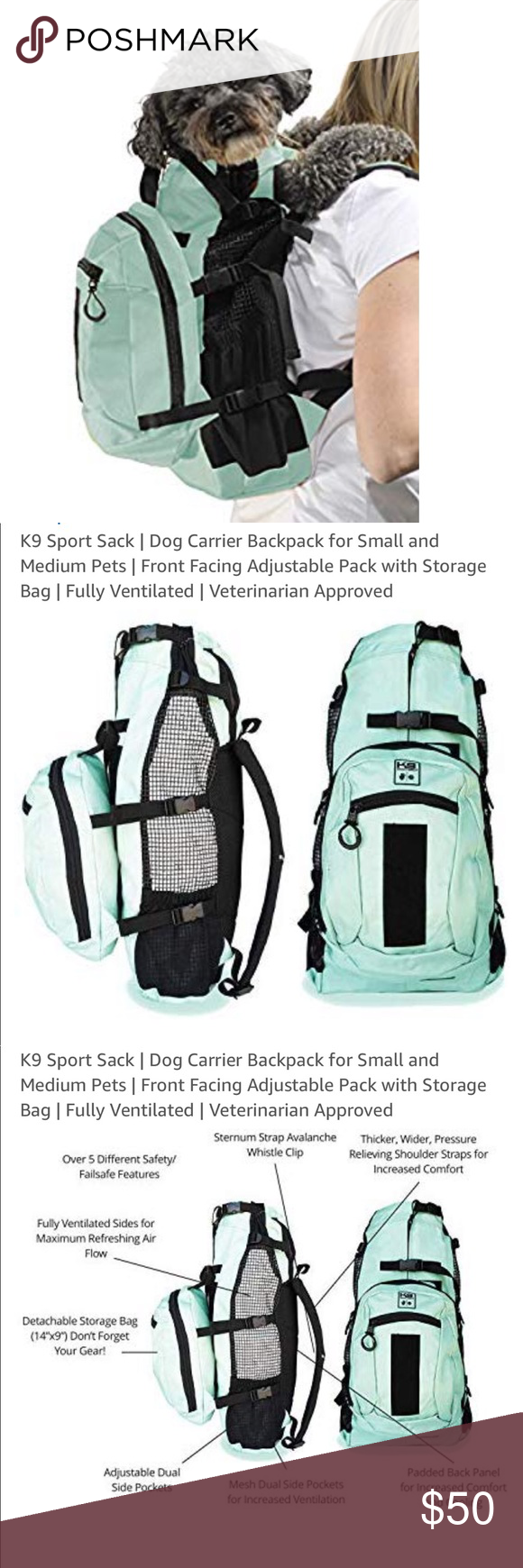 K9 Deluxe Dog Backpack K9 Sport Sack AIR PLUS Features