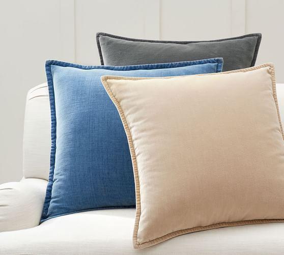 Washed Velvet Pillow Cover 24 Pottery Barn